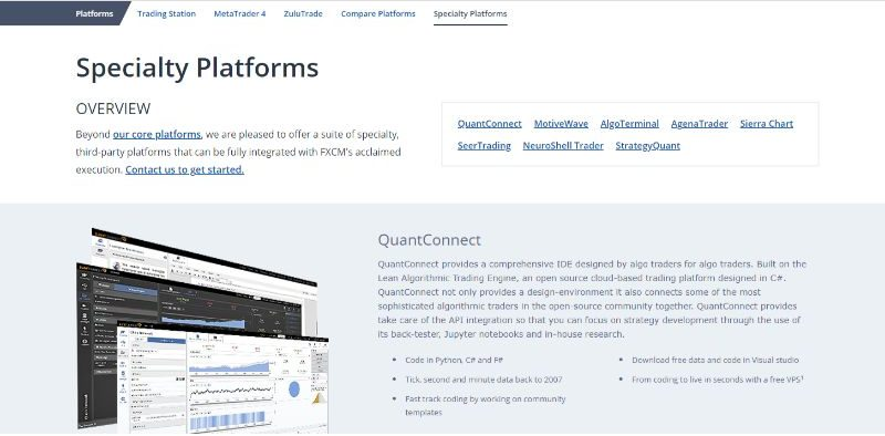 FXCM Platforms