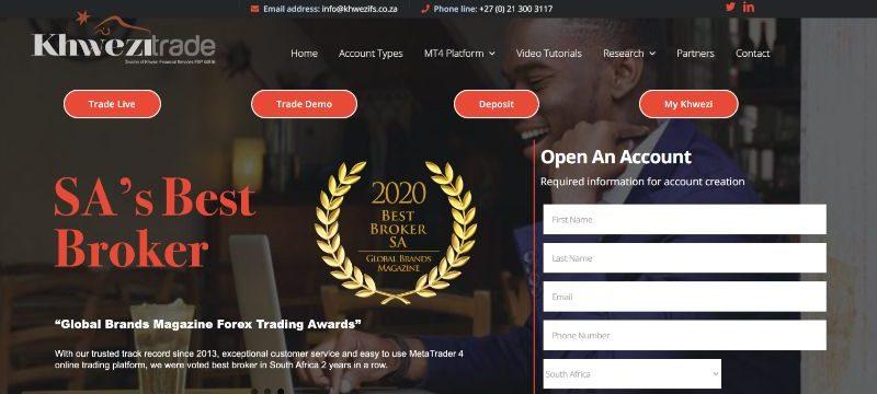 KhweziTrade Homepage